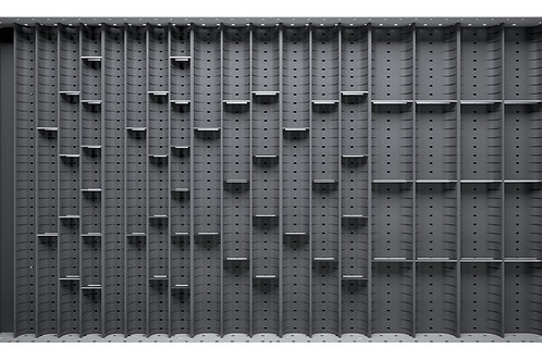 Cubio Trough Block Divider Kit 52 Compartment 925 x 525 x 28mm