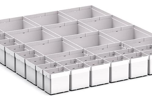 Cubio Plastic Box Divider Kit 33 Comp 525 x 675 x 68mm
