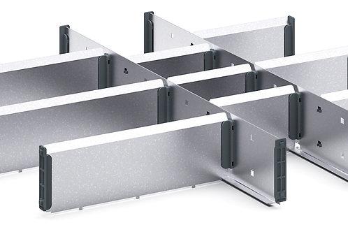 Cubio Adj Metal Divider Kit 12 Comp 525 x 525 x 77mm
