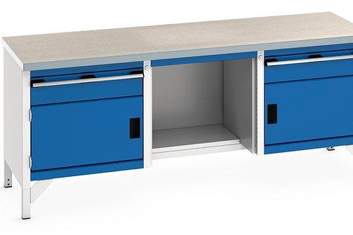 Cubio Storage Bench (Lino) 2000 x 750 x 840mm
