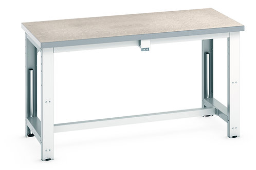 Cubio  Adj Height Frame Lino Bench 1500 x 750 x 1140mm