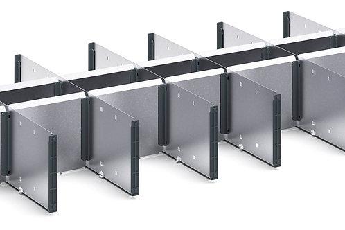 Verso Adjustable Metal Divider Kit 925 x 430 x 127mm
