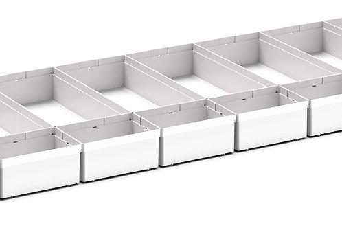 Cubio Plastic Box Divider Kit 24 Comp 1175 x 400 x 68mm