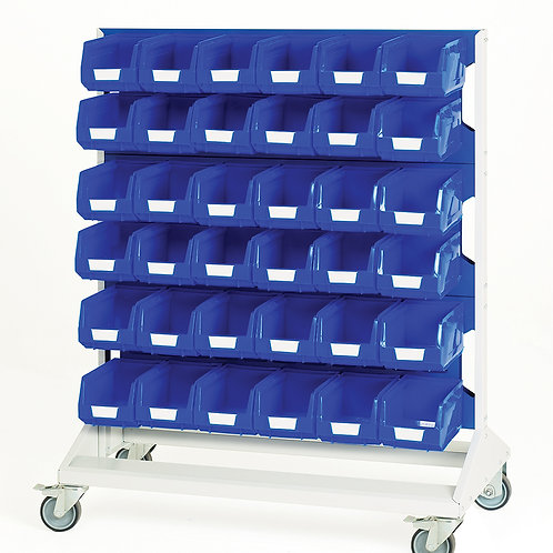 Louvre Panel Trolley Double Sided & Bins 1000 x 550 x 1250mm