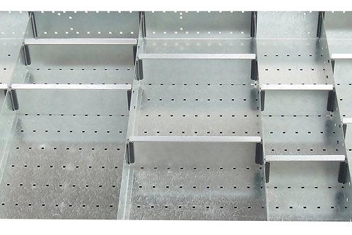 Cubio Adj Metal Divider Kit 20 Comp 1175 x 625 x 77mm