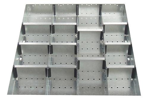 Cubio Adj Metal Divider Kit 15 Comp 525 x 625 x 127mm