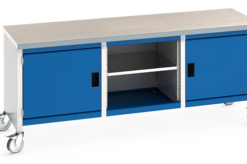 Cubio Mobile Storage Bench (Lino) 2000 x 750 x 840mm