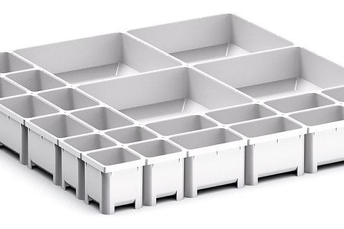 Cubio Plastic Box Divider Kit 24 Comp 400 x 400 x 50mm