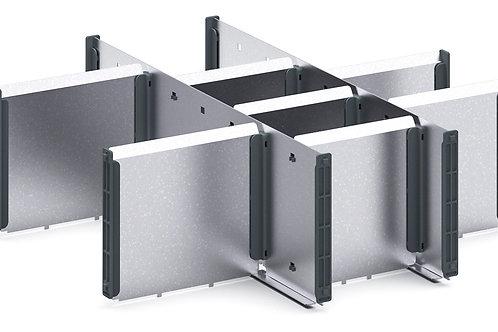 Cubio Adj Metal Divider Kit 10 Comp 400 x 400 x 127mm