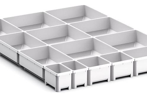 Cubio Plastic Box Divider Kit 14 Comp 400 x 525 x 50mm