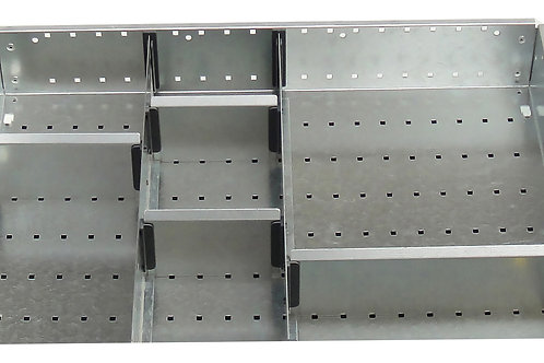 Cubio Adj Metal Divider Kit 7 Comp 525 x 400 x 52mm