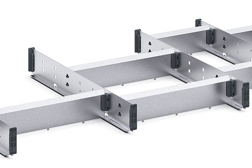 Cubio Adj Metal Divider Kit 16 Comp 1175 x 400 x 52mm