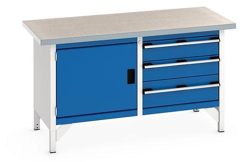 Cubio Storage Bench (Lino) 1500 x 750 x 840mm