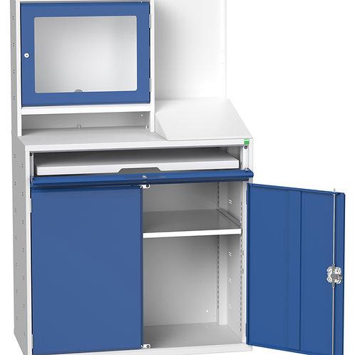 Verso Computer Cupboard 1050 x 550 x 1650mm