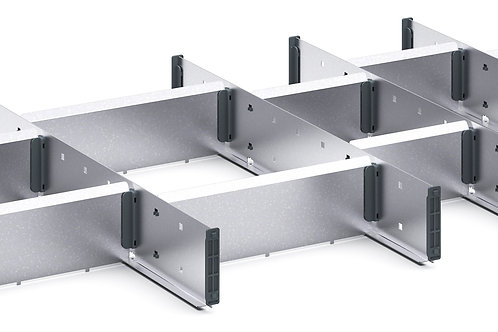 Cubio Adj Metal Divider Kit 16 Comp 925 x 525 x 77mm