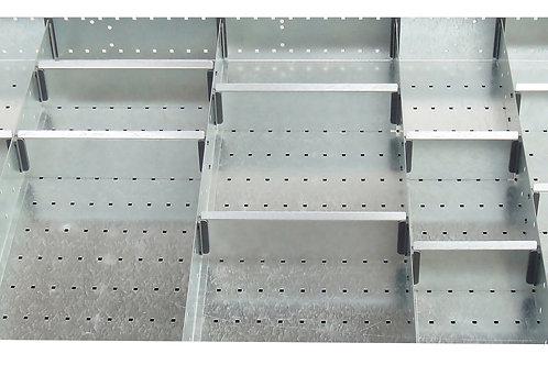 Cubio Adj Metal Divider Kit 20 Comp 1175 x 625 x 127mm