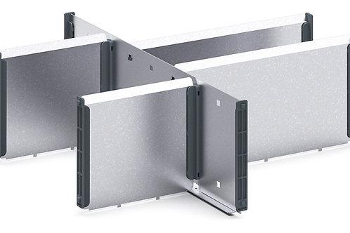 Cubio Adj Metal Divider Kit 6 Comp 400 x 400 x 127mm
