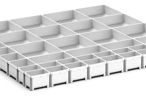 Cubio Plastic Box Divider Kit 41 Comp 675 x 675 x 50mm