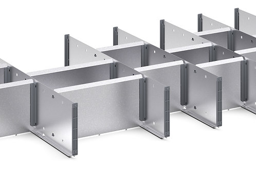 Cubio Adj Metal Divider Kit 21 Comp 1175 x 525 x 127mm