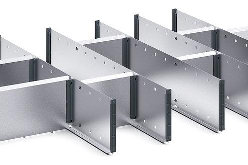 Cubio Adj Metal Divider Kit 13 Comp 925 x 625 x 127mm