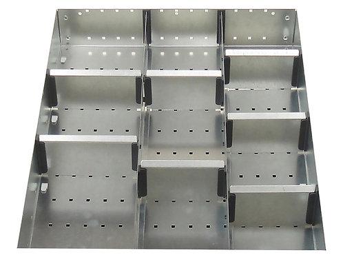 Cubio Adj Metal Divider Kit 10 Comp 400 x 525 x 52mm