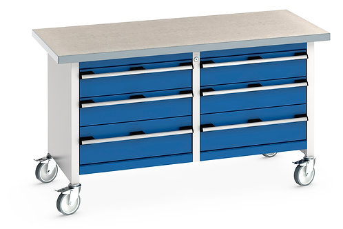 Cubio Mobile Storage Bench (Lino) 1500 x 750 x 840mm