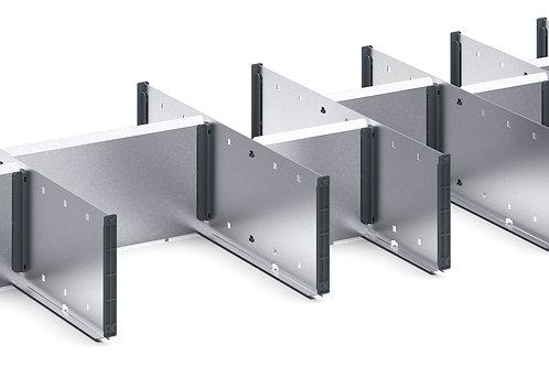 Cubio Adj Metal Divider Kit 14 Comp 1175 x 400 x 127mm
