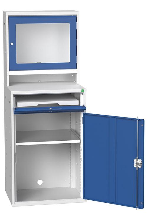 Verso Computer Cupboard 650 x 550 x 1650mm