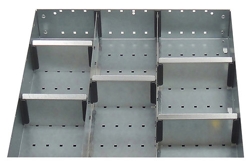 Cubio Adj Metal Divider Kit 8 Comp 525 x 400 x 52mm