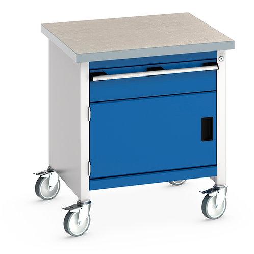 Cubio Mobile Storage Bench (Lino) 750 x 750 x 840mm