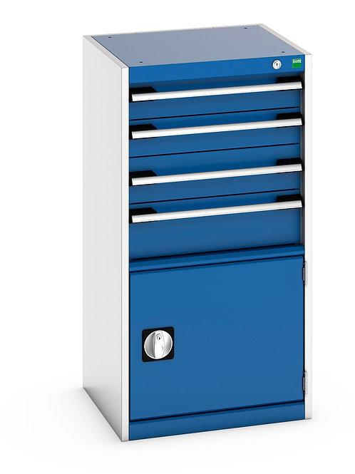 Cubio Drawer-Door Cabinet 525 x 525 x 1000mm