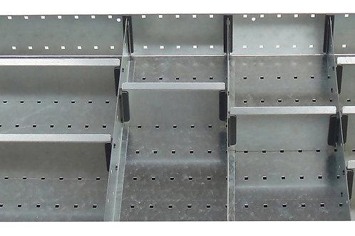 Cubio Adj Metal Divider Kit 11 Comp 675 x 400 x 52mm