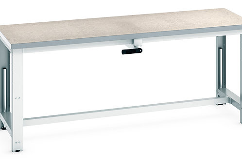Cubio  Adj Height Frame Lino Bench 2000 x 750 x 1140mm