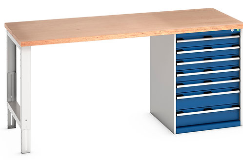 Cubio Pedestal Bench (Multiplex) 2000 x 900 x 940mm
