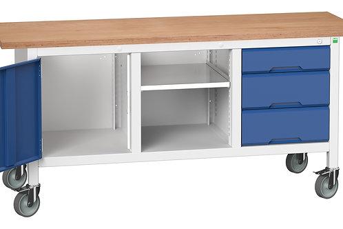 Verso Mobile Storage Bench (Mpx) 1750 x 600 x 830mm