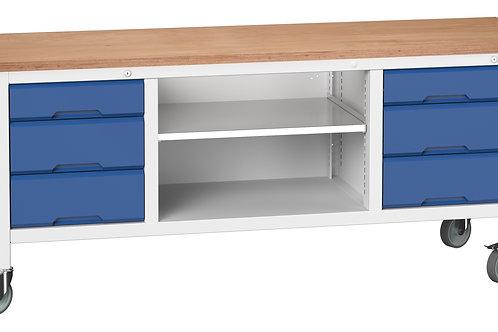 Verso Mobile Storage Bench (Mpx) 2000 x 600 x 830mm