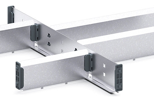 Cubio Adj Metal Divider Kit 6 Comp 400 x 400 x 52mm