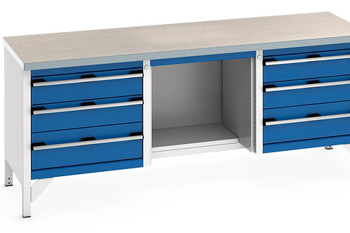Cubio Storage Bench (Lino) 2000 x 750 x 840mm