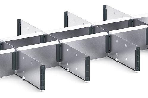 Verso Adjustable Metal Divider Kit 675 x 430 x 77mm