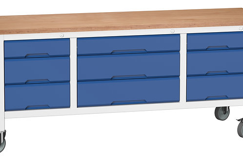 Verso Mobile Storage Bench (Mpx) 2000 x 600 x 830mm