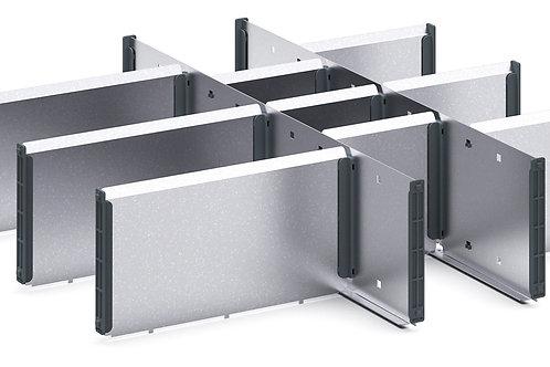 Cubio Adj Metal Divider Kit 12 Comp 525 x 525 x 127mm