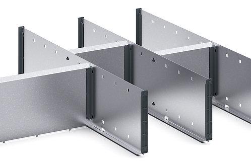 Cubio Adj Metal Divider Kit 7 Comp 675 x 525 x 127mm