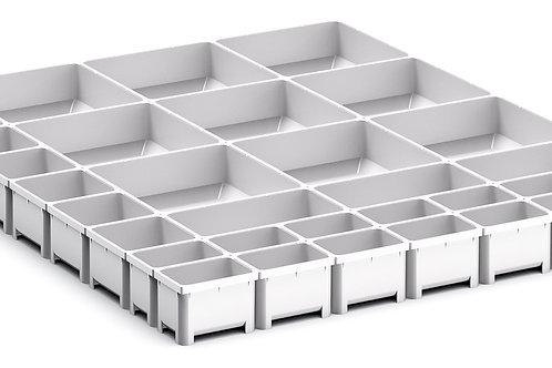 Cubio Plastic Box Divider Kit 33 Comp 525 x 675 x 50mm