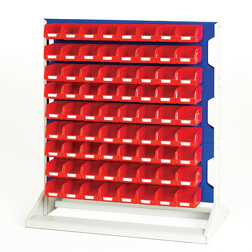 Louvre Panel Rack Double Sided & Bin Kit 1000 x 550 x 1125mm