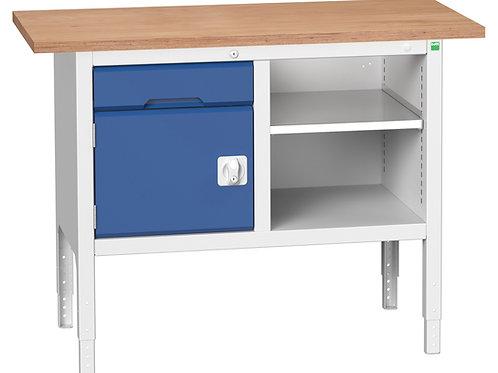 Verso Adj. Height Storage Bench (Mpx) 1250 x 600 x 930mm