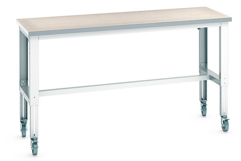 Cubio Mob Frame Bench Adj Height (Lino) 2000 x 750 x 1140mm