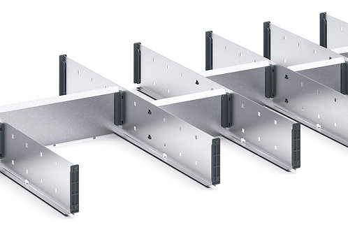 Cubio Adj Metal Divider Kit 14 Comp 1175 x 525 x 52mm