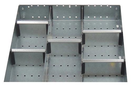 Cubio Adj Metal Divider Kit 8 Comp 525 x 400 x 127mm