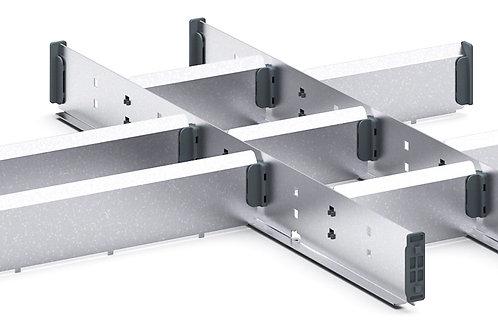 Cubio Adj Metal Divider Kit 10 Comp 525 x 525 x 52mm