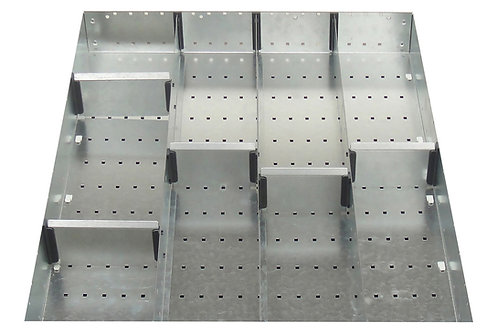 Cubio Adj Metal Divider Kit 9 Comp 525 x 625 x 127mm